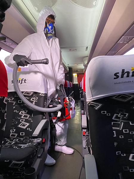 Shift Mobilidade Corporativa faz bio sanitização na frota