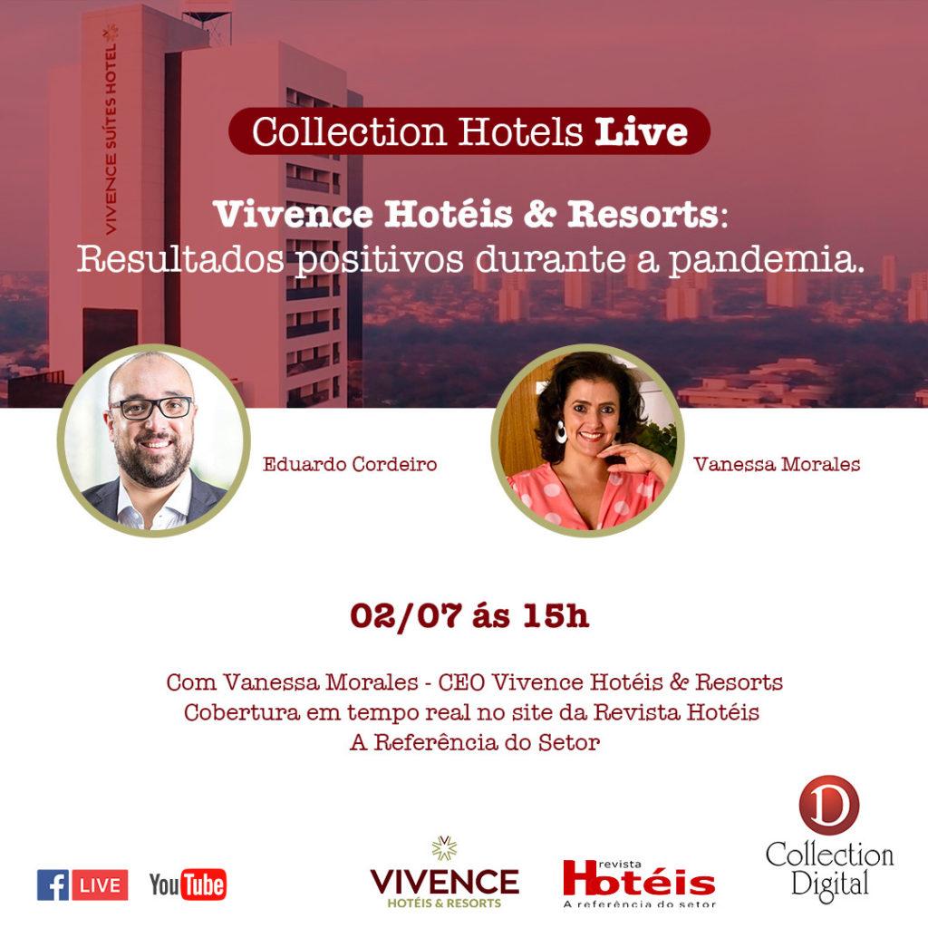 Collection Hotels promoverá live com Vanessa Morales, CEO da Vivence Hotéis & Resorts
