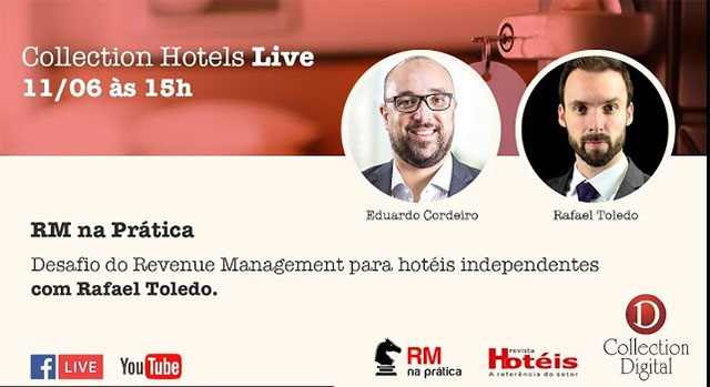 Collection Hotels promove live com Rafael Toledo para debater Revenue Management
