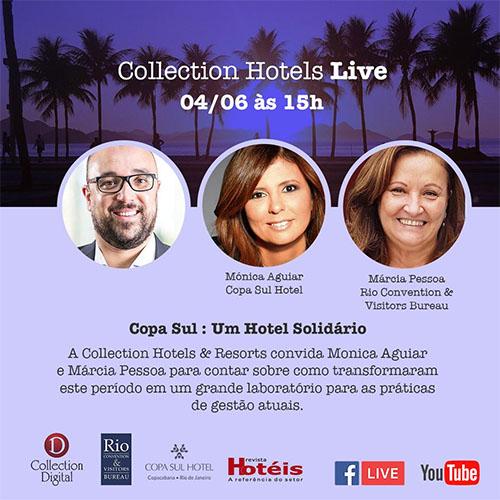 Collection Hotels promoverá live com duas renomadas profissionais da hotelaria