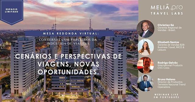 Meliá realizará debate virtual sobre cenários e novas perspectivas de viagem