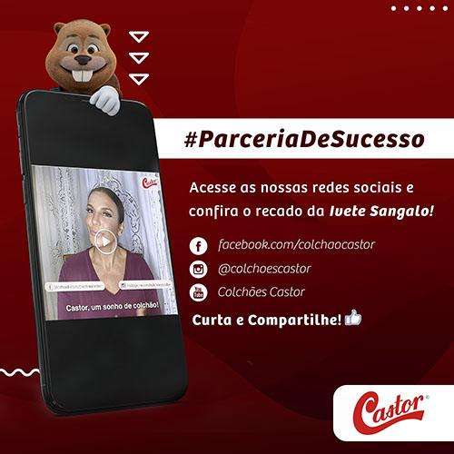 Colchões Castor e Ivete Sangalo reforçam a parceria