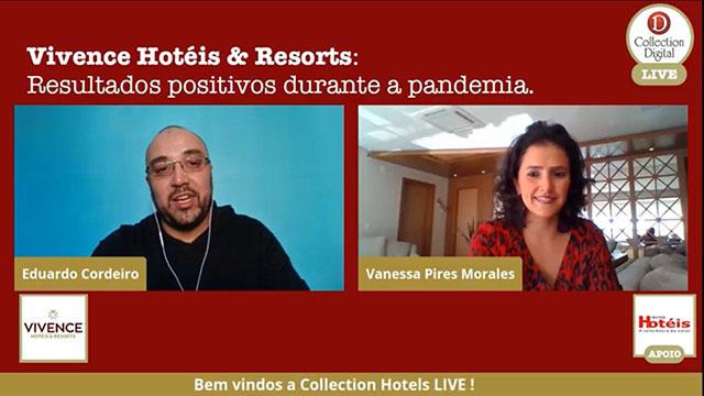 Live da Collection Hotels trouxe Vanessa Morales para comentar o desempenho da Vivence Hotéis na pandemia