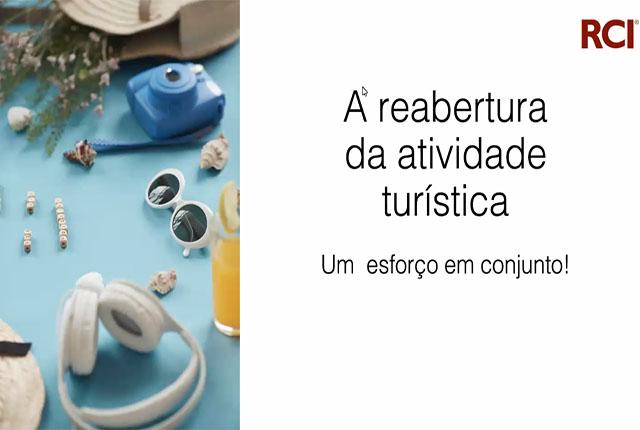 Reabertura da atividade turística foi tema de live da RCI Brasil