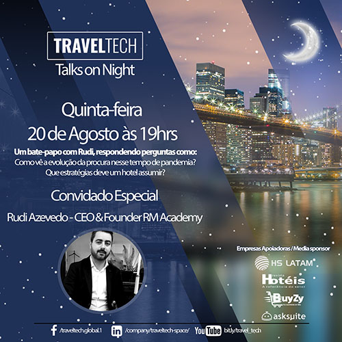 Rudi Azevedo, CEO da RM Academy, participará da Travel Tech Talks