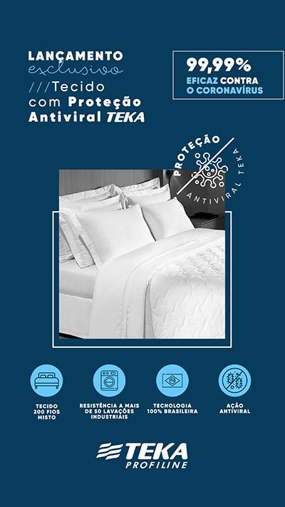 Teka lançou tecido antiviral da linha Profiline