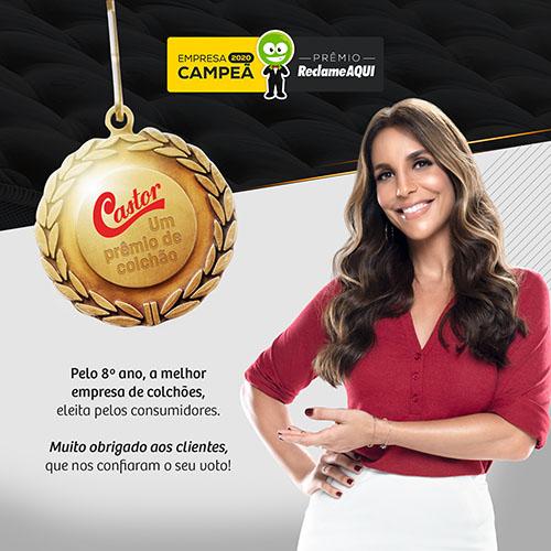 Castor conquistou Prêmio Reclame Aqui 2020 na categoria colchões