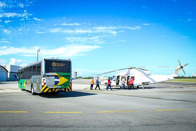 Aeroporto de Vitória tem nova área para off-shore