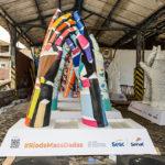 Rio de Janeiro recebe intervenção urbana que levará 'mãos gigantes'