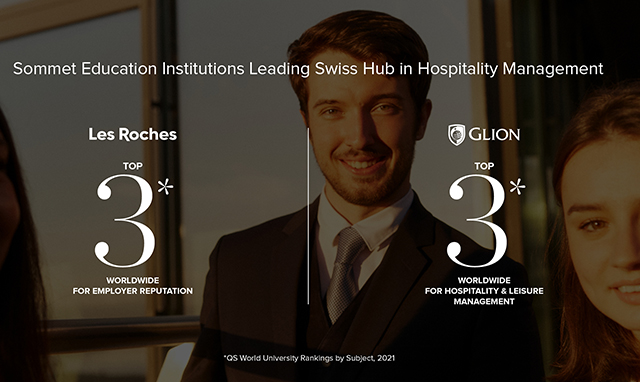 Escola de hospitalidade Les Roches é a 3ª favorita dos recrutadores no mundo