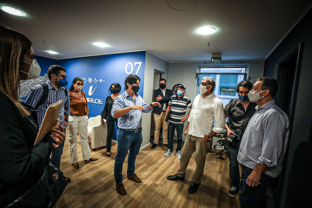 Prefeito de Porto Alegre visita torre do Hub de inovação do Hotel Plaza São Rafael
