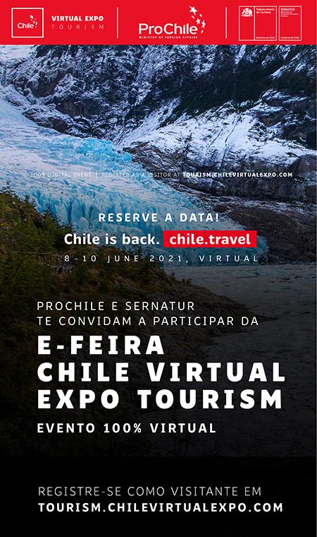 Chile anuncia feira de Turismo Virtual
