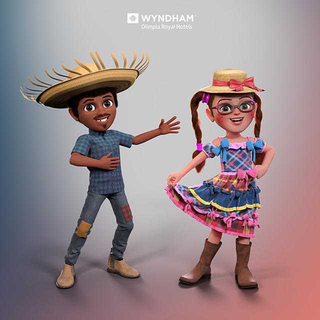 Wyndham Olímpia destaca inclusão social por meio de suas mascotes