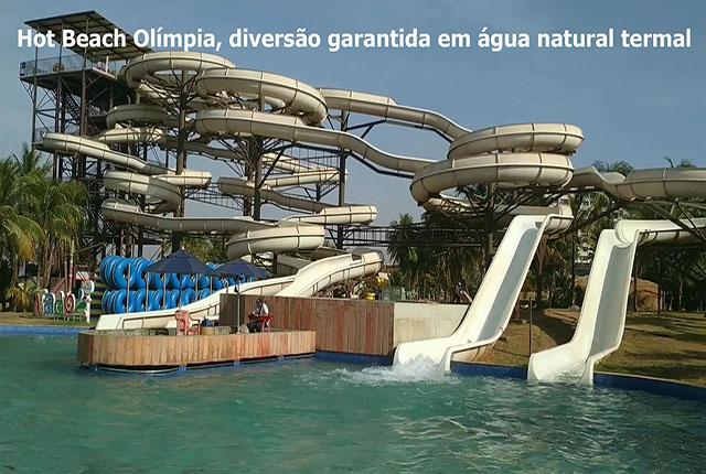 Hot Beach Olímpia, diversão garantida em água natural termal