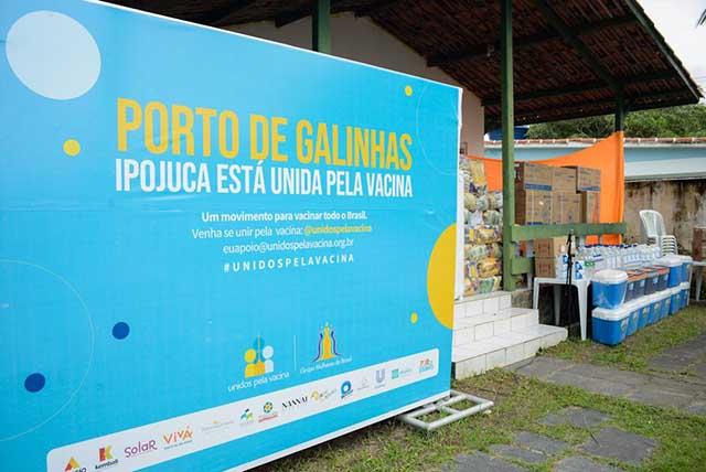 Porto de Galinhas promove ação da campanha Unidos pela Vacina