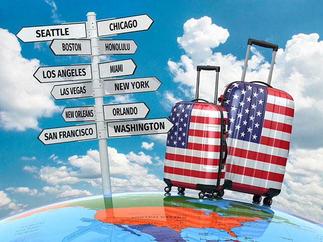 Buscas de voos para os EUA sobem até 353% após anúncio de reabertura