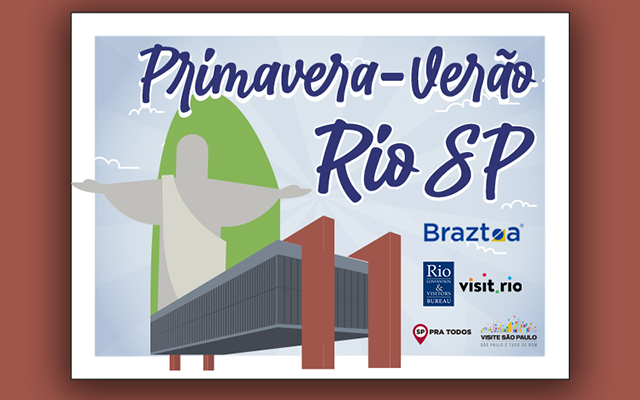 Braztoa e CVB's lançam ação para fomento do turismo de SP e RJ