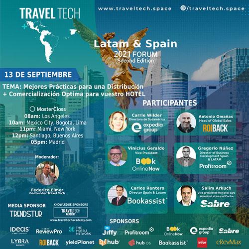 Travel Tech Latam e Espanha acontecerá de 13 a 17 de setembro